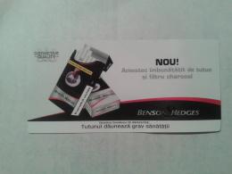ROMANIA-CIGARETTES CARD,NOT GOOD SHAPE-0.94 X 0.46 CM - Tabac (objets Liés)