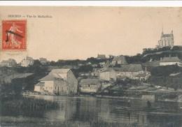 Carte De Seiches  Vue De Matheflon  ( Recto Verso ) - Seiches Sur Le Loir