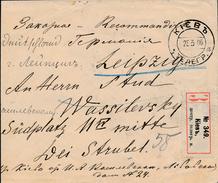 Russia Ukraine 1906 KIEV Tsentralnaya Telegraph Kontor Registered Cover To Leipzig Germany (46_2406) - Storia Postale