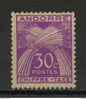 ANDORRE FR - TAXE-  N° Yvert  T22** - Timbres-taxe