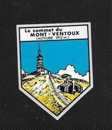 Le Mont Ventoux - Avignon Vaucluse - Ecusson Adhésif Autocollant - Stickers