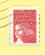 FRANCE - TVP Rouge LUQUET (II) DE CARNET - N° Yvert 3419 SUR ACCUSÉ DE RECEPTION - 1997-04 Marianne Van De 14de Juli