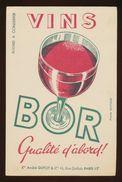 Buvard - VINS BOR - La Qualite D'abord - Blotters