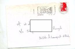 Lettre Flamme Laxou Champ Le Boeuf - Poststempel (Briefe)
