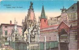 Italie - Verona - Tomba Degli Scaligeri (colorisée) - Verona