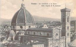 Italie - Firenze - La Cattedrale E La Torre Dalla Cupola Di S. Lorenzo - Firenze