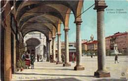 Italie - Livorno - Loggiato E Piazza Emmanuele (couleur Vernie) - Livorno