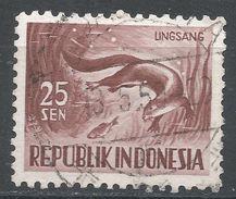 Indonesia 1956. Scott #428 (U) Otter, Loutre - Indonésie