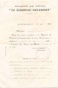 Invitation Société De Peche Le Garbeau Solognot à La-Ferté-Saint-Aubin Le 13 Mai 1949 - Unclassified