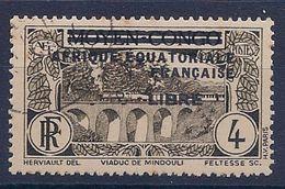 AEF - 102  4C VERT FRANCE LIBRE NOIRE OBL USED COTE 15 EUR - A.E.F. (1936-1958)