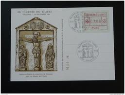 Carte Journée Du Timbre Strassen Luxembourg 1984 Avec Vignette De Distributeur ATM - Cartes Commémoratives
