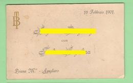 Poiana Maggiore Agugliaro 1901 Cartolina Postale Con Annuncio Nozze - Nozze