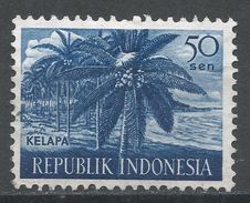 Indonesia 1960, Scott #499 (U) Coconut Palms, Cocotiers - Indonesia