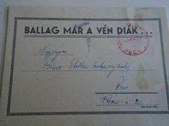 AD019.02  Hungary  PÉCS  Varosi Ker. Iskola - 1945 -Meghívo Ballagasra - Old Paper