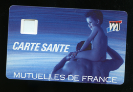 CARTE SANTE SANS PUCE AU RECTO. VERSO VISUEL TELECARTE PUBLIQUE FRANÇAISE JVC PHONECARD CARD CARTE A PUCE - France
