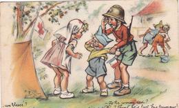 CPSM Infirmière Croix Rouge Red Cross Caca Dans Sa Culotte Illustrateur Germaine BOURET - Bouret, Germaine