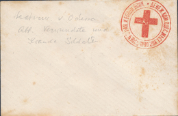 Russia Ukraine Odessa Red Cross Charity New Year's Envelope Witzh Red Handstamp, Unused (46_2479) - 1857-1916 Impero