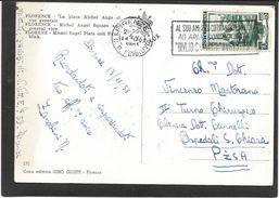 1961 AFF. MECCANICA AL SUD AMERICA COI TRANSLANTICI...GIULIO CESARE E AUGUSTUS - Affrancature Meccaniche Rosse (EMA)