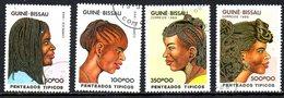 GUINEE BISSAU. 4 Timbres De 1989 Oblitérés. Coiffures. - Guinea-Bissau