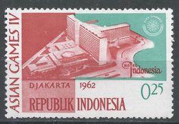 Indonesia 1962. Scott #553 (MH) 4th Asian Games Jakarta: Hotel Indonesia. 4ème Jeux Asiatique Jakarta: Hôtel Indonesie - Indonésie