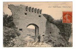 13 Saint Chamas Porte Du Fort Cpa Animée Cachet St Chamas 1907 - Autres Communes