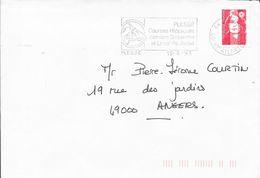 LOIRE ATLANTIQUE 44  -  PLESSE - FLAMME : VOIR DESCRIPTION   - 1993 -  THEME SPORT CHEVAL - Marcophilie (Lettres)