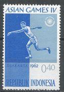 Indonesia 1962. Scott #555 (MH) Asian Games Jakarta, Discus Thrower, Jeux Asiatique Jakarta, Lancer Du Disque - Indonésie