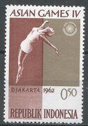 Indonesia 1962, Scott #556 (MH) 4th Asian Games Jakarta: Woman Diver. 4ème Jeux Asiatique Jakarta: Plongeuse - Indonésie