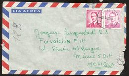 A) 1964 BELGIUM, KING BAUDOUIN, ROYAL MAIL, EUROPE, AIRMAIL, CIRCULATED COVER FROM BRUSSELS TO MEXICO D.F. - Airmail