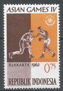 Indonesia 1962, Scott #559 (MH) 4th Asian Games Jakarta: Boxers. 4ème Jeux Asiatique Jakarta: Boxeurs - Indonésie