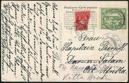 Arctic SPITSBERGEN Private Local Spitzbergen Spidsbergen 1909 Post Card Schiffspost POLAR BEAR > German East Africa DOA - Arctic Tierwelt