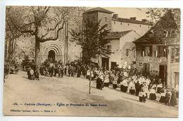 Cadouin église Et Procession Du Saint Suaire - France