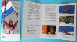 JANICA KOSTELIC - Empty Album (etui) For Rare Serie Of 4. Cards ( Croatia ) * Alpine Ski Skiing Sci Olympic Games Medals - Croatie