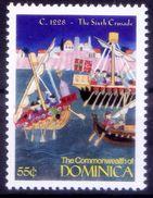 1228 Sixth Crusade By Emperor Fredrick II, Histroy, Dominica MNH, Millennium - 2. Weltkrieg