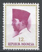 Indonesia 1964. Scott #617 (MNG) President Sukarno, Président Sukarno - Indonésie