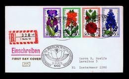 Flora Flowers Fleurs Germany Berlin Set Fdc 1976 Zoetermeer Netherlands Sp4501 - Unclassified