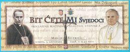 POPE JOHN PAUL II Visit Croatiia (1998.) - Official Ticket * Karol Wojtyla * Billet Biglietto Pape Papst Papa Paus - Programs