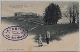 Gruss Von Der Alp Scheidegg - Zürcher Oberland - Animee Kinder - Photo: E. Oetiker - ZH Zurich