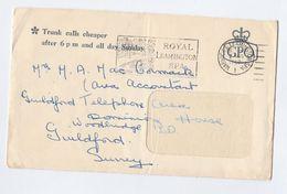 1967 Leamington Spa GB GPO COVER Prepaid GPO TELECOM Telephone POSTAL STATIONERY To Guildford Telephone Area Accountant - Telecom