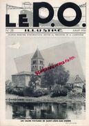 REVUE P.O. ILLUSTRE-N° 28-1933-SAINT LEON LA VEZERE-CROZATIER--ORLEANS TOURS-EL MANSOUR-CHATEAUROUX-87-SAINT OUEN BELLAC - Railway & Tramway