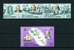 Nuevas Hébridas (Francesas)  Nº Yvert  394/7  En Nuevo - Leyenda Francesa