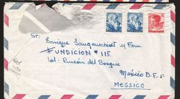 A) 1963 ITALY, MICHAEL ANGEL, WOMEN STAMPS, ART, AIRMAIL, CIRCULATED COVER FROM ROMA TO MEXICO D.F. - Italy