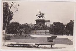 Postcard ,carte Photo,only,brésil,rio De Janeiro ,monumento A Pedro ,militaire à Cheval,1930,rare,brasil - Rio De Janeiro