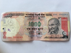 INDIA X 1000 RUPEES 2009 CIRCULATED - Indien