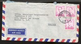 A) 1964 BELGIUM, KING BAUDOUIN, ROYAL MAIL, AIRMAIL, CIRCULATED COVER FROM BRUSSELS TO MEXICO D.F. - Airmail