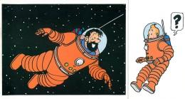 Tintin - 2 Lettres France Prioritaire - Et Un Dépliant Format Invitattion - Other