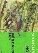 CATALOGUE JOUETS MARKLIN-GARE TRAIN CHEMINS DE FER- RESEAUX HO-GOPPINGEN GERMANY - Railway & Tramway