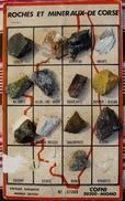 PLAQUE DE 13 ROCHES ET MINERAUX DE CORSE - N° 907265 - COFNI - 20200 MIOMO - Mineralien