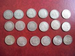 FRANCE - Monnaies Lot De 1 FRANC SEMEUSE ARGENT 83,5 % Complet De 1898 à 1920 Sauf 1900,1903,1906,1911 Et 1914 - France