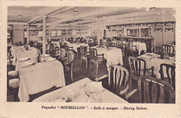 "Paquebot ""Roussillon"" Salle à Manger - Dining Saloon - French Line - Pas Circulé - Dampfer"